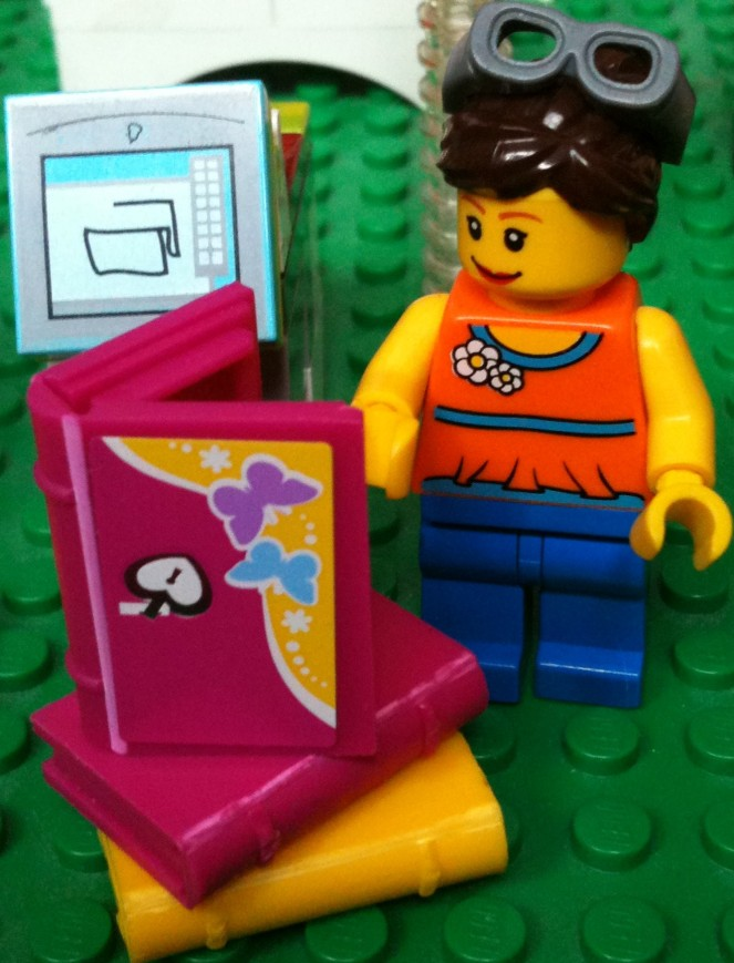 penny_librarian rendered in lego