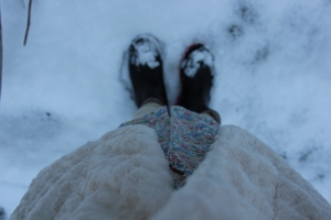 snowy wellies